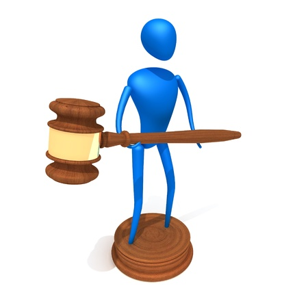 Person hold Gavel photo