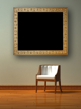 Alone chair  in minimalist interior Stock Photo - 12916291