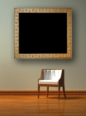 Alone chair  in minimalist interior Stock Photo - 12916291
