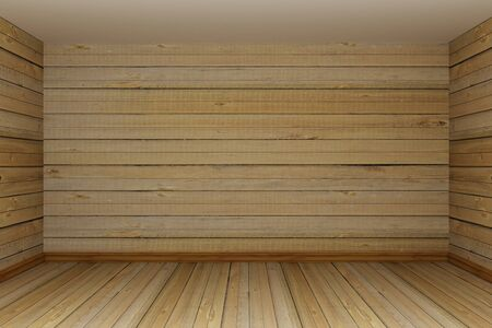 wooden empty room photo