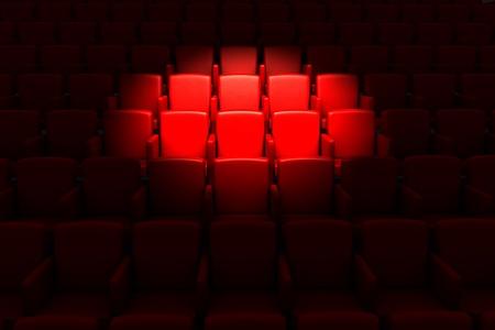 letras musicales: Teatro auditorio vac�o o en el cine