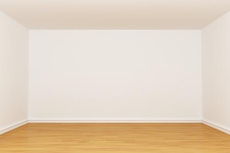 3d render empty room Stock Photo