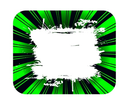 splotchy: Green background and grunge white banner for copy Stock Photo