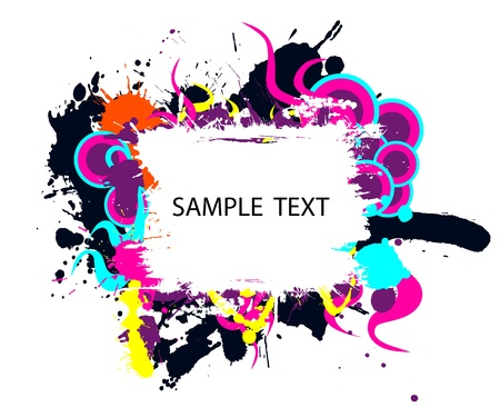 Colorful grunge banner Stock Photo