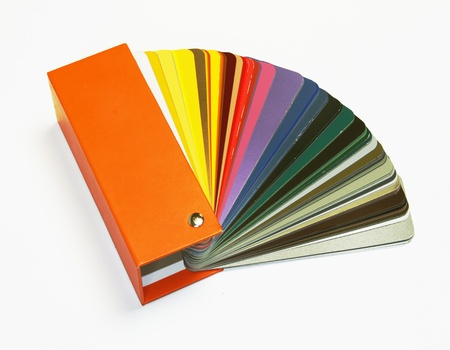 open RAL sample colors catalogue  photo