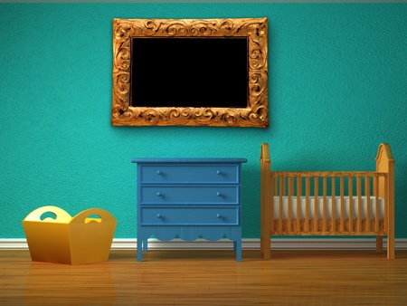 Baby bedroom with a crib. Stock Photo - 13101165