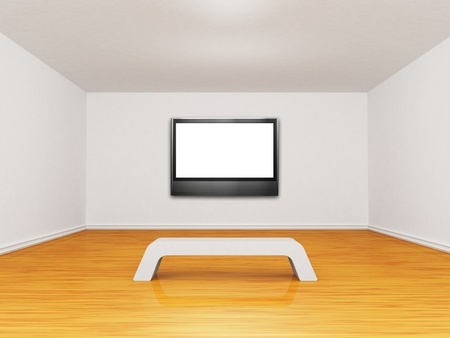 empty gallery with lcd tv Stock Photo - 13213876