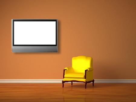Alone luxuus chair in minimalist inter  Stock Photo - 13138559