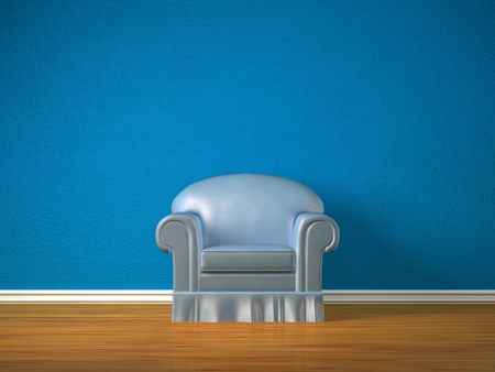 Alone chair in minimalist interior  photo