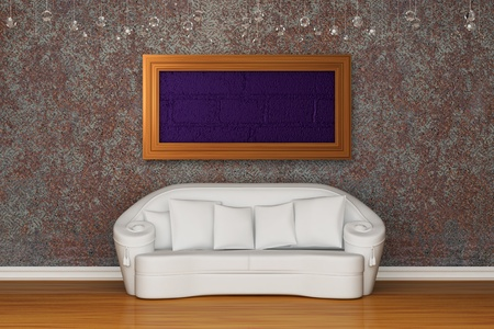 White sofa in rusty interior Stock Photo - 13140046