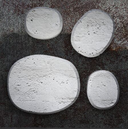 Curved  concrete plates on  metallic background texture Stock Photo - 13140049