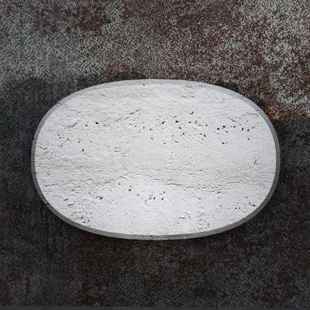 oxidated: Placa curva de concreto sobre la textura de fondo met�lico