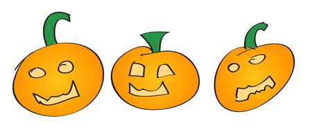 Halloween Pumpkin Set Stock Photo - 13138391