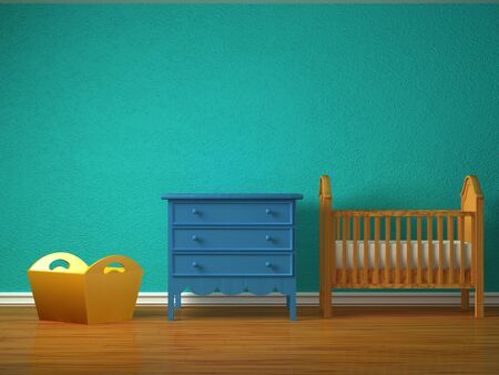 baby bedroom: Baby bedroom with a crib.