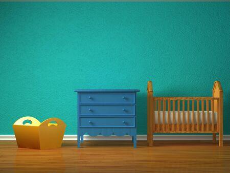 bebe cuna: Beb� dormitorio con una cuna.