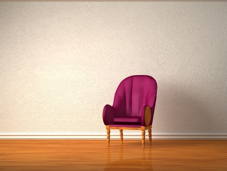 Alone luxurious chair in minimalist interior  photo