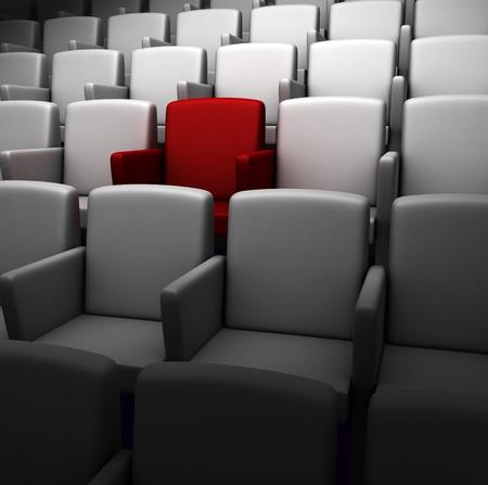 L'auditorium avec un siège réservé Banque d'images - 13171954