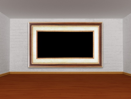 Gallery s room with picture frame Stock Photo - 13186692