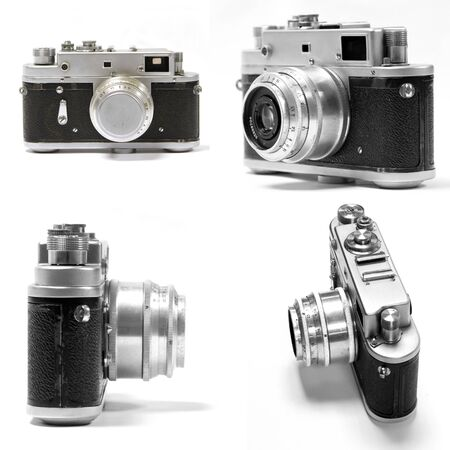 set of old analog photo camera Stock Photo - 13315556