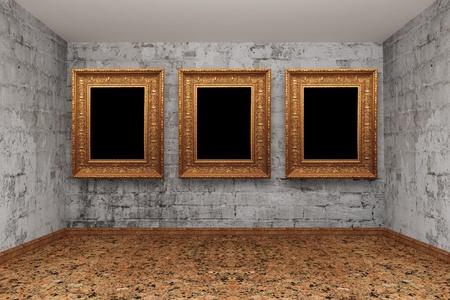 Grunge empty room Stock Photo - 13317820