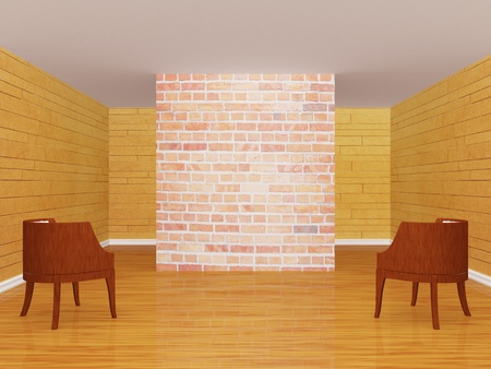 Gallerys hall with chairs photo