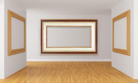 Empty gallery's hall Stock Photo - 13354853