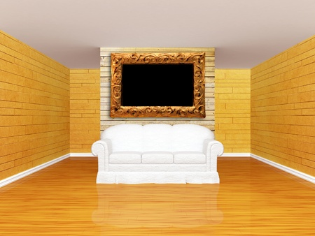 Gallery's hall with sofa Stock Photo - 13354856