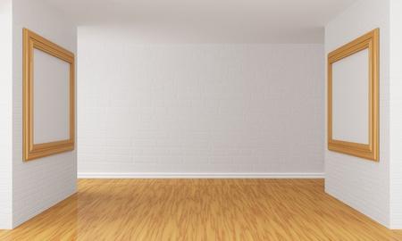 show case: Empty gallerys hall