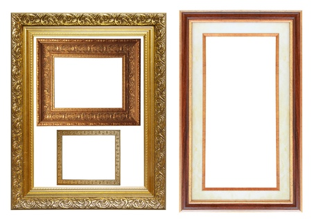 Set of different picture photo frames photo
