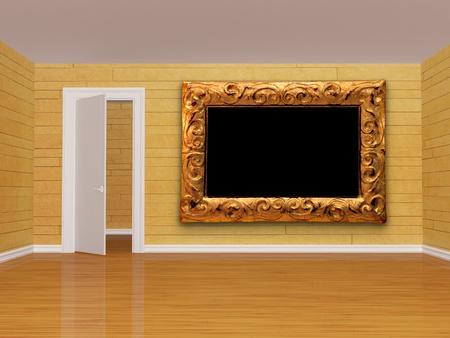 empty room with open  door Stock Photo - 13354786