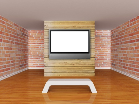 Gallery with lcd tv Stock Photo - 13354847