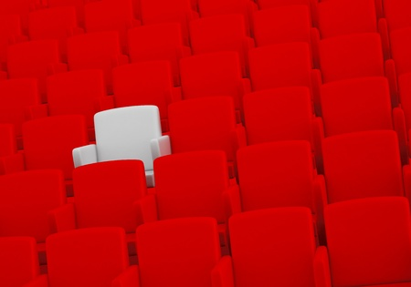 reserved seat: the auditorium with one reserved seat