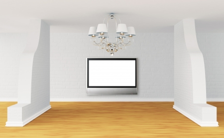Empty room with alone luxurious chandelier Stock Photo - 13679281