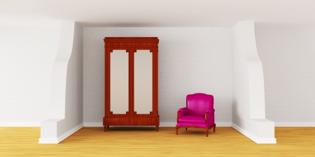 Cupboard with luxurious chair in modern interior  Stock Photo - 13679350
