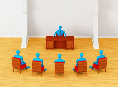 3D persons having business meeting   photo