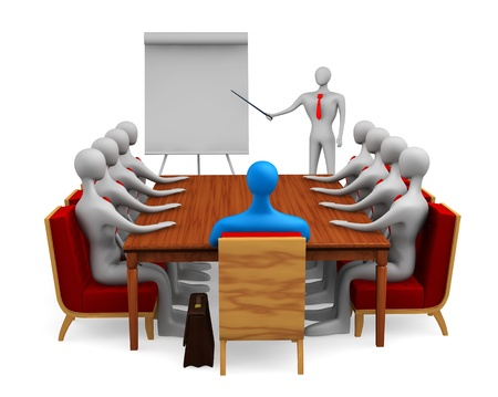 Group of persons on the marketing meeting Stock Photo - 13708802