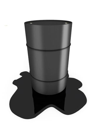 gasoil: Oil barrel with splash isolated on white