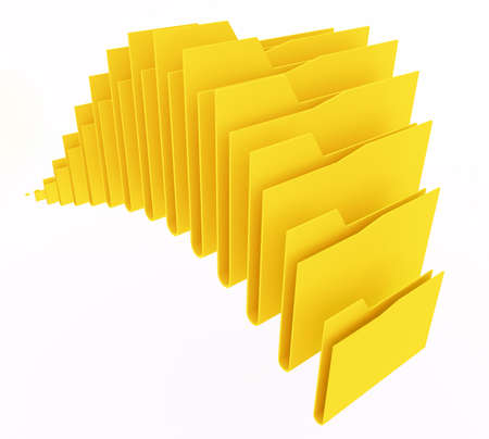 computer folders on white background Stock Photo - 13709135