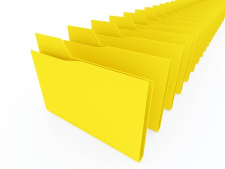 computer folders on white background photo