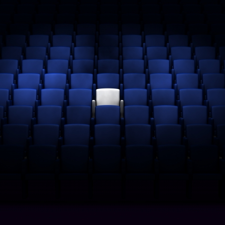 reserved seat: auditorium with one reserved seat
