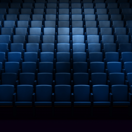 theater seat: Empty cinema auditorium