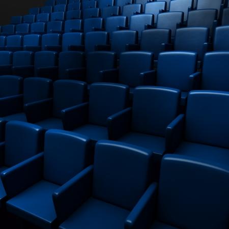 Empty cinema auditorium  photo