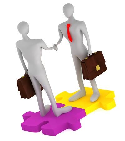 Success of partnership Stock Photo - 14453357
