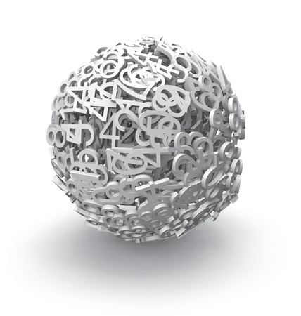 numeration: 3d sphere of numbers