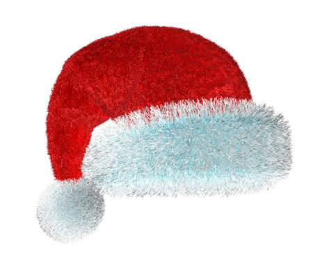Santas red hat isolated on white background  photo