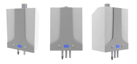 temp: Gas boilers isolated on a white background