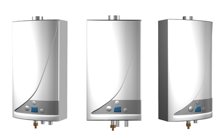 gas boiler: Gas boilers isolated on a white background.