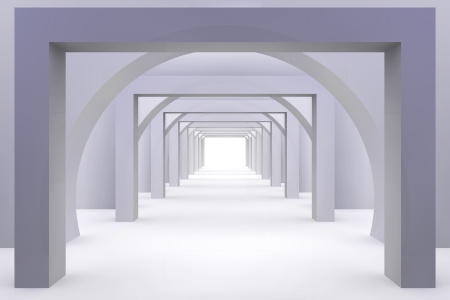 3d modern hall photo
