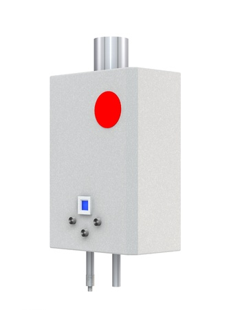 boiler: 3d Gas boiler isolated on a white background