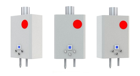 gas boiler: 3d Gas boiler isolated on a white background